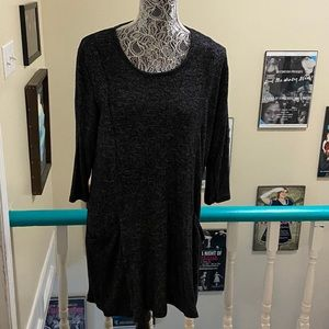 Eclipse Size XL Gray Rayon Tunic with Pockets